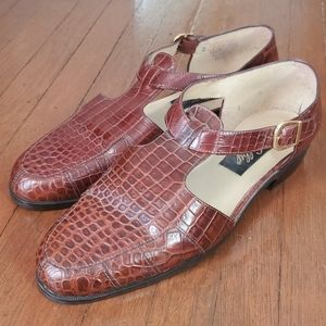 Vintage Selby Leather Buckle Loafers